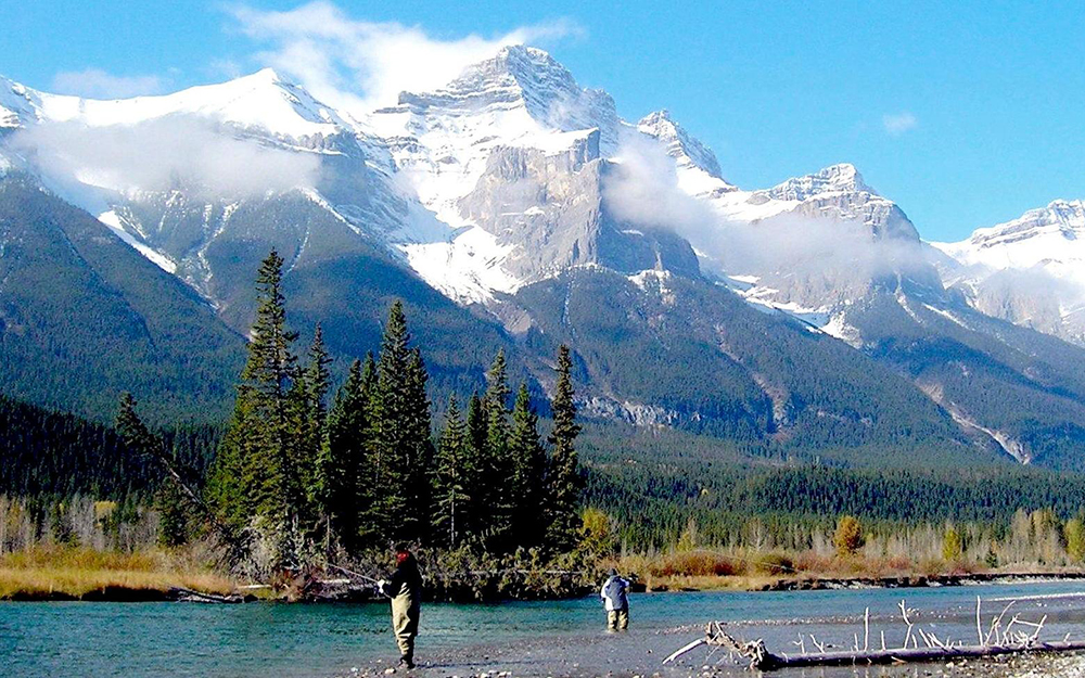 Banff fishing unlimited walk wade the bow river for Fishing in banff